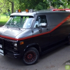The GMC van used by the A-Team