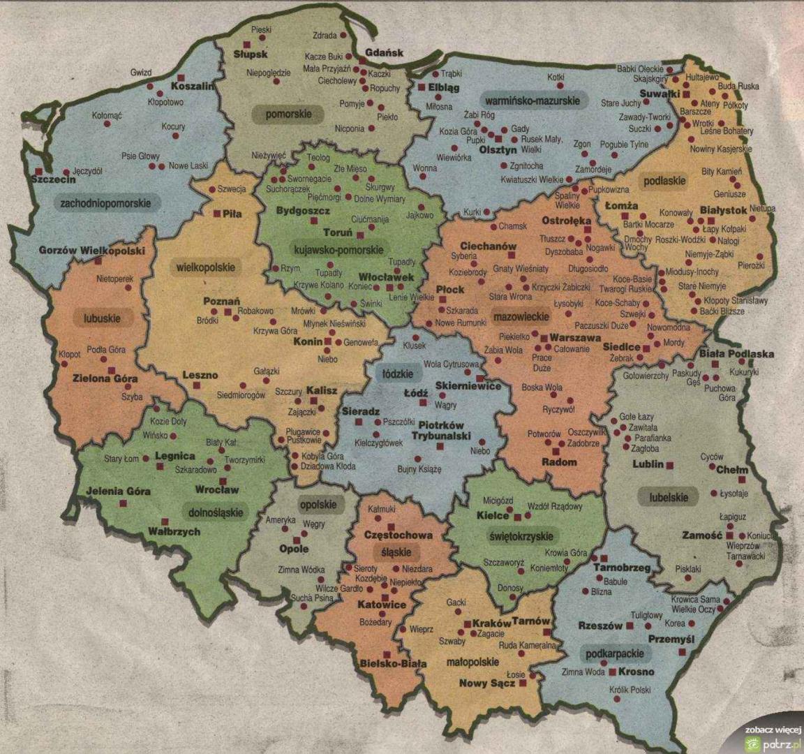 Inne rodzaje Mapa.polski.(:na.wesolo:) - patrz.pl UT96