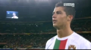 Cristiano Ronaldo spit at camera. Ronaldo pluje do kamery. Spain - Portugal 1-0.