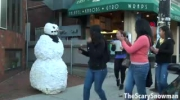 Scary snowman