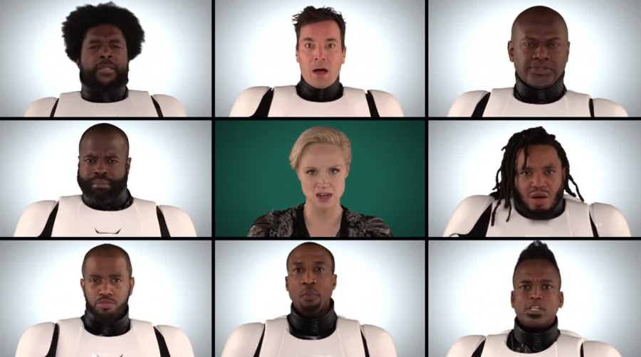 Jimmy Fallon, The Roots & 'Star Wars- The Force Awakens' Cast Sing 'Star Wars' Medley (A Cappella).mp4