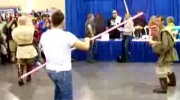 Star Wars Ray Park Darth Maul Lightsaber Duel (Part 2 of 3)